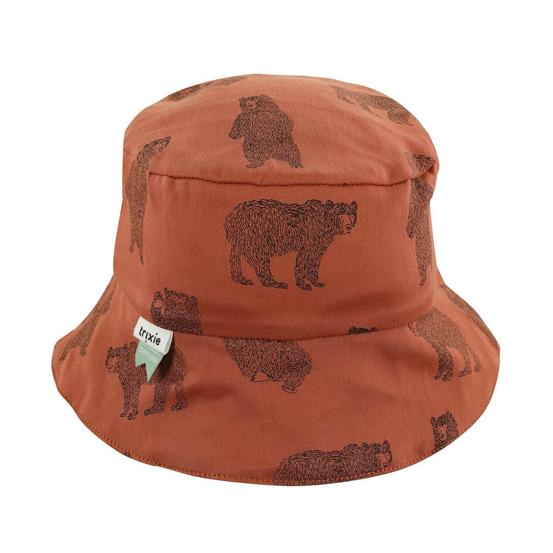 有機棉遮陽帽-勇敢小熊 (12-18M (頭圍48cm))