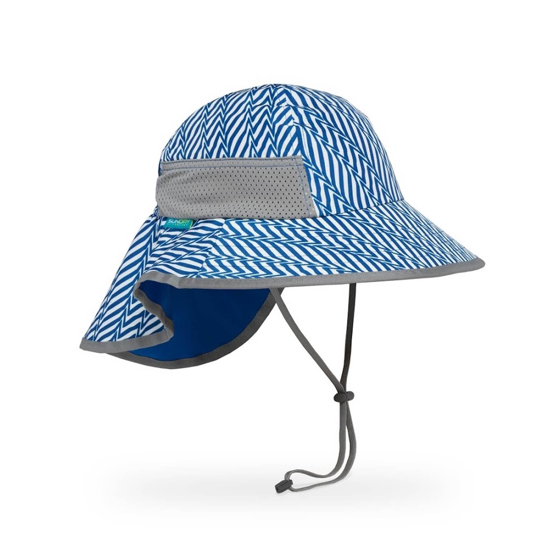 兒童防曬帽-兒童抗UV防潑透氣護頸帽Kids Play Hat-水藍 (M 頭圍49.5-52CM 帽緣寬8.9CM 建議2-5歲兒童)