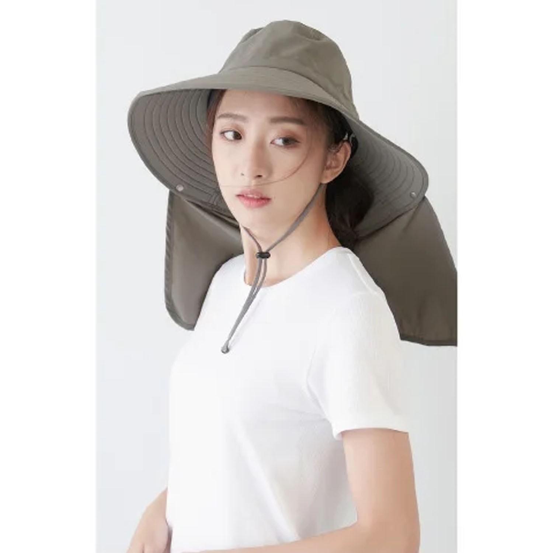 UPF50+多功能四折遮陽帽-深灰色 (頭圍:59cm)