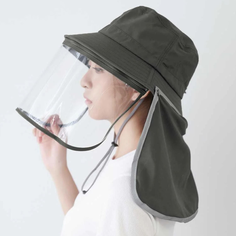 UPF50+多功能防疫遮陽帽-深灰 (頭圍: 60cm)