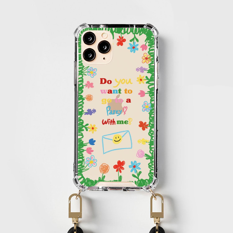設計款編繩手機殼(編繩另外加購)-繽紛花園 (iPhone-12/ 12 Pro)