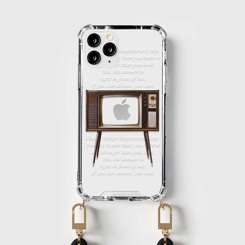設計款編繩手機殼(編繩另外加購)-復古電視 (iPhone-12/ 12 Pro)