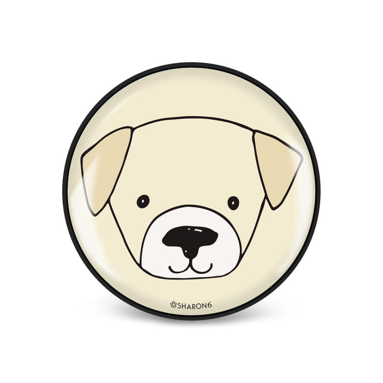 手機氣囊支架-黑色款-狗狗