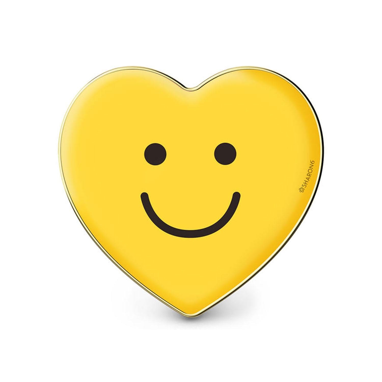 手機氣囊支架-愛心款-黃色笑臉