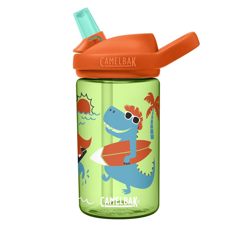 EDDY+ 兒童吸管運動水瓶-衝浪恐龍 (400ml)-專案