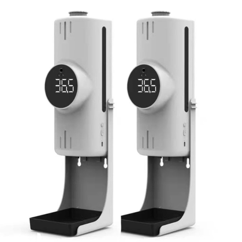 K9X Pro 紅外線三合一雙測溫感應酒精噴霧機(測量額溫與手溫)-附專用三角支架-超值2入組