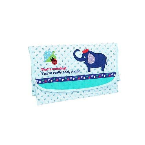 日本 KNICK KNACK Baby POETIC 尿布墊收納包-大象
