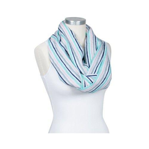 美國 Bébé au Lait 時尚二合一哺乳圍巾-Candy stripes [經典棉紗款]