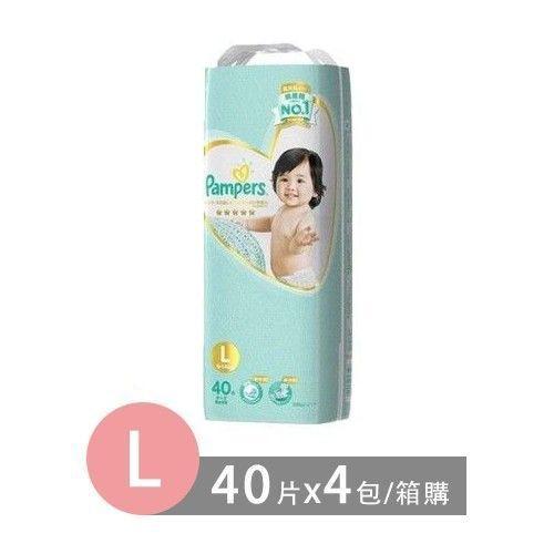 Pampers 幫寶適 日本境內五星幫寶適尿布-黏貼型 (L [9-14kg])-40片x4包/箱