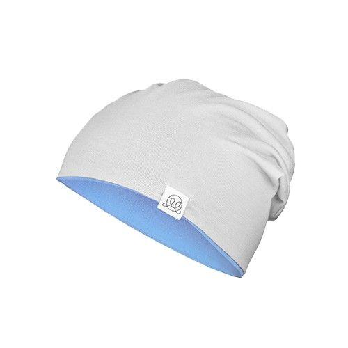 兒童竹棉雙色帽-藍/灰-2-6y