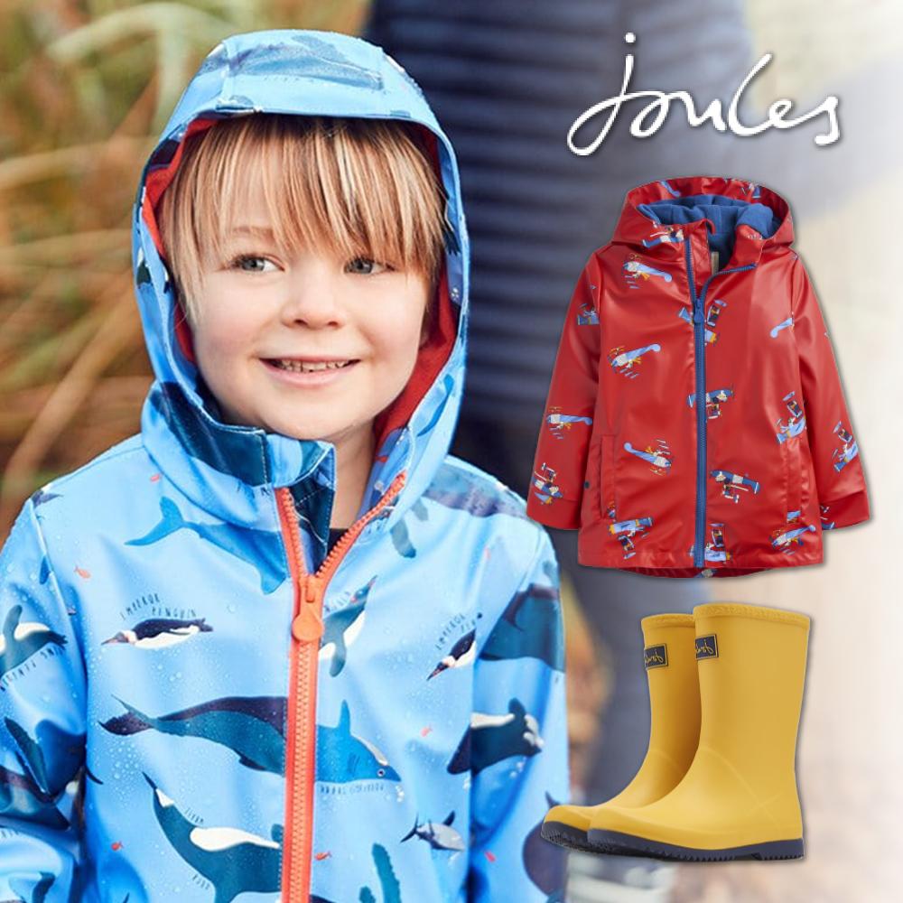 英國 Joules 時尚雨靴&兩用外套 ☚ 溼冷秋冬雨天必備