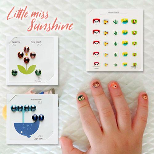女寶最愛✭韓國兒童耳環貼紙/指甲貼紙✭