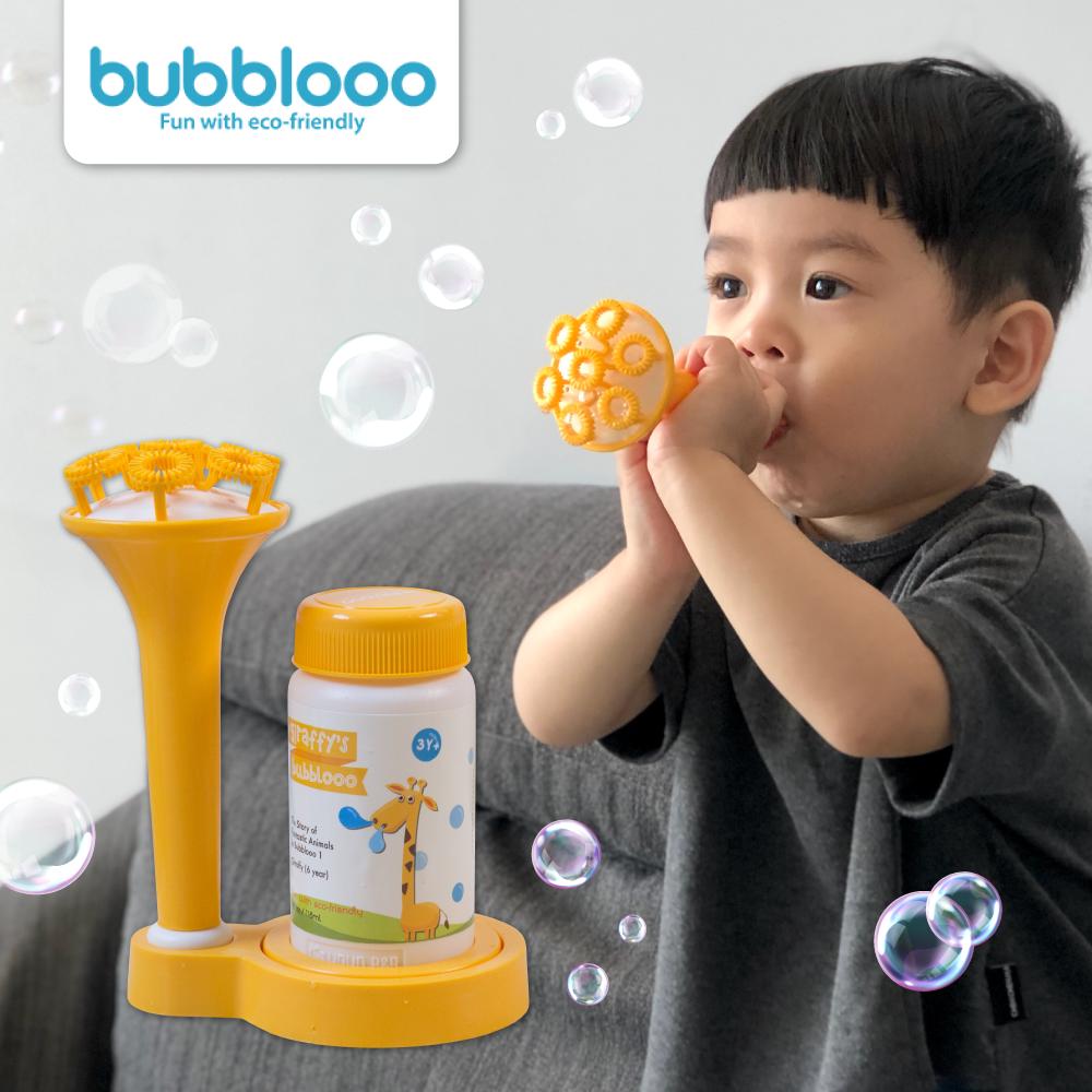 抬頭吹不易逆流到嘴巴【韓國製 Bubblooo 泡泡組】
