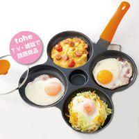 日本 Clovercast Pan - 鋁合金四格煎鍋(附鍋蓋*2)-橘色-內徑13cm*4格