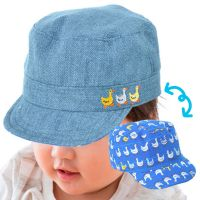 akachan honpo - 嬰幼兒丹寧2WAY棒球帽-藍色