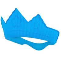 韓國 sillymann - 100%鉑金矽膠皇冠幼兒洗髮帽-藍色 (9個月以上適用)