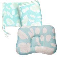 COMFi - 透氣嬰兒定型枕 0~18個月+透氣床圍-薄荷綠