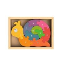 純木質拼圖玩具-數字蝸牛
