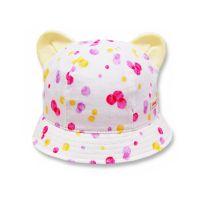 日本 SHAPOX - 日本製粉嫩點點幼童帽(附彈性帽帶)-小耳朵-粉