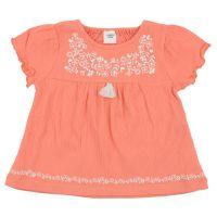 akachan honpo - 幼兒短袖T恤-楊柳風-粉紅色