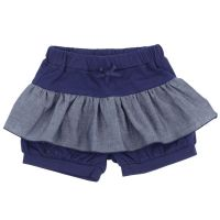 akachan honpo - 兒童荷葉邊短褲-深藍色