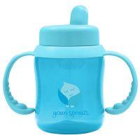 美國 green sprouts - 防漏就嘴喝水瓶-180ML-水藍色