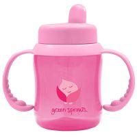 美國 green sprouts - 防漏就嘴喝水瓶-180ML-粉紅色