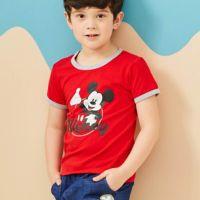 麗嬰房 Disney - 米奇系列歡樂圈圈上衣-紅色