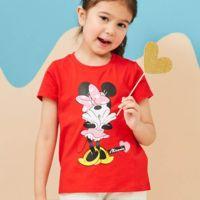 麗嬰房 Disney - 米妮系列害羞甜心圓領上衣-紅色