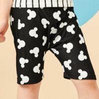麗嬰房 Disney - 米奇系列活潑派對哈倫短褲-黑色