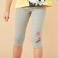 麗嬰房 Disney - 米妮系列甜心蝴蝶結彈力棉褲-麻花灰