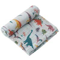 美國 Little Unicorn - 純棉紗布巾單入組-童話恐龍