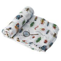 美國 Little Unicorn - 竹纖維紗布巾單入組-昆蟲圖鑑