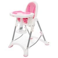 折疊式安全兒童餐椅-蜜桃粉