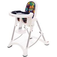 折疊式安全兒童餐椅-卡通藍