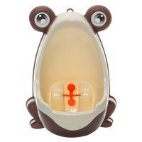 可愛青蛙造型男寶寶訓練尿尿小便斗-咖啡