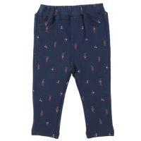 akachan honpo - 幼兒造型彈性素材10分緊身長褲-深藍色