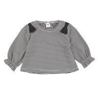 akachan honpo - 幼兒糖果袖長袖T恤-黑色