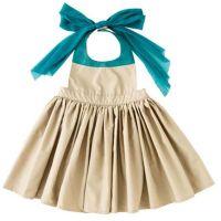 MARLMARL - Bouquet 花朵用餐圍裙-卡其 (Kids (100-110cm))