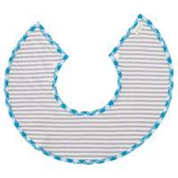 MARLMARL - 微笑圍兜兜-法國市集系列-灰藍格紋 (脖圍25-28cm)