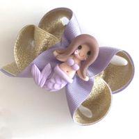英國 MonkeyBow - 手工髮飾/髮夾-紫系美人魚-紫金美人魚