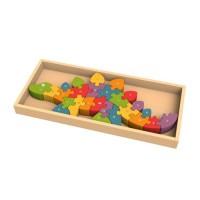 純木質拼圖玩具-ABC恐龍