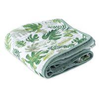 美國 Little Unicorn - 純棉四層紗布毯(被子)-熱帶植物