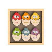 純木質益智玩具-聰明配對蛋