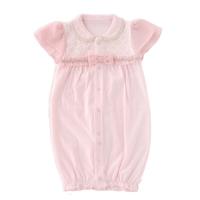 新生兒公主風洋裝-粉 (50-60cm)