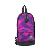 單肩/雙肩兩用包-幾何紫