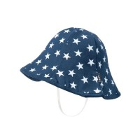 波浪漁夫帽-深藍星星 (48cm)