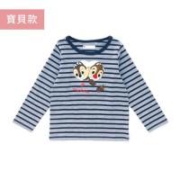 迪士尼寶貝條紋印花長袖T恤-奇奇蒂蒂躲貓貓