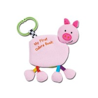 寶寶的動物鈴鐺布書-認識顏色-豬