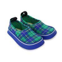 兒童休閒機能鞋-百搭綠格紋